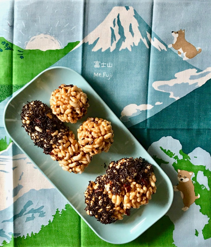 Pecan, Cacao Nibs and Butter Roasted Puffed Rice Ladoos, Cookies and Bars or Murmura Ladoo with Swag
